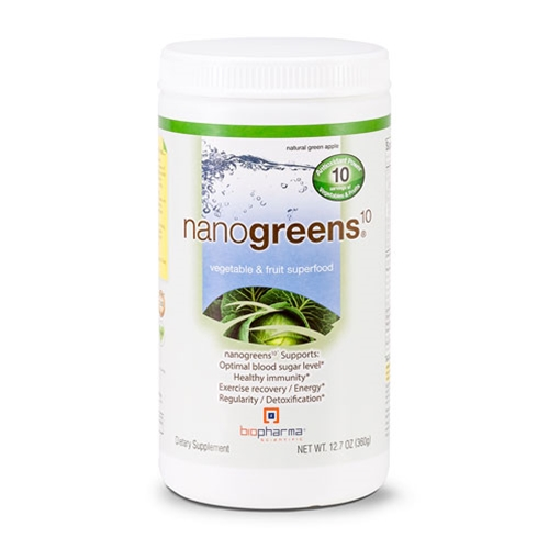 Biopharma Scientific NanoGreens10 (Green Apple) 12.7oz. by Biopharma Scientific