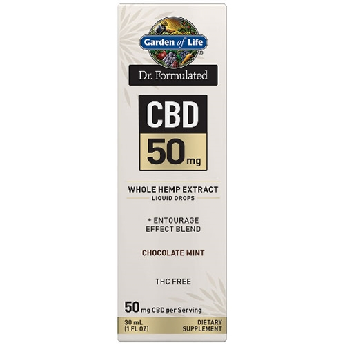 Garden of Life Dr. Formulated CBD Oil 50mg (Choc. Mint) 1 oz. Drops by GoL
